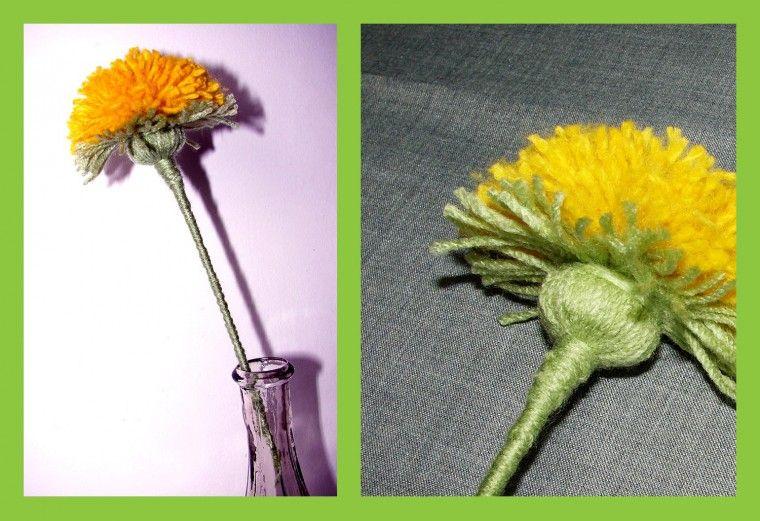 Como hacer una Flor con Lana - Patrones Crochet | Pom pom - Yarn ...