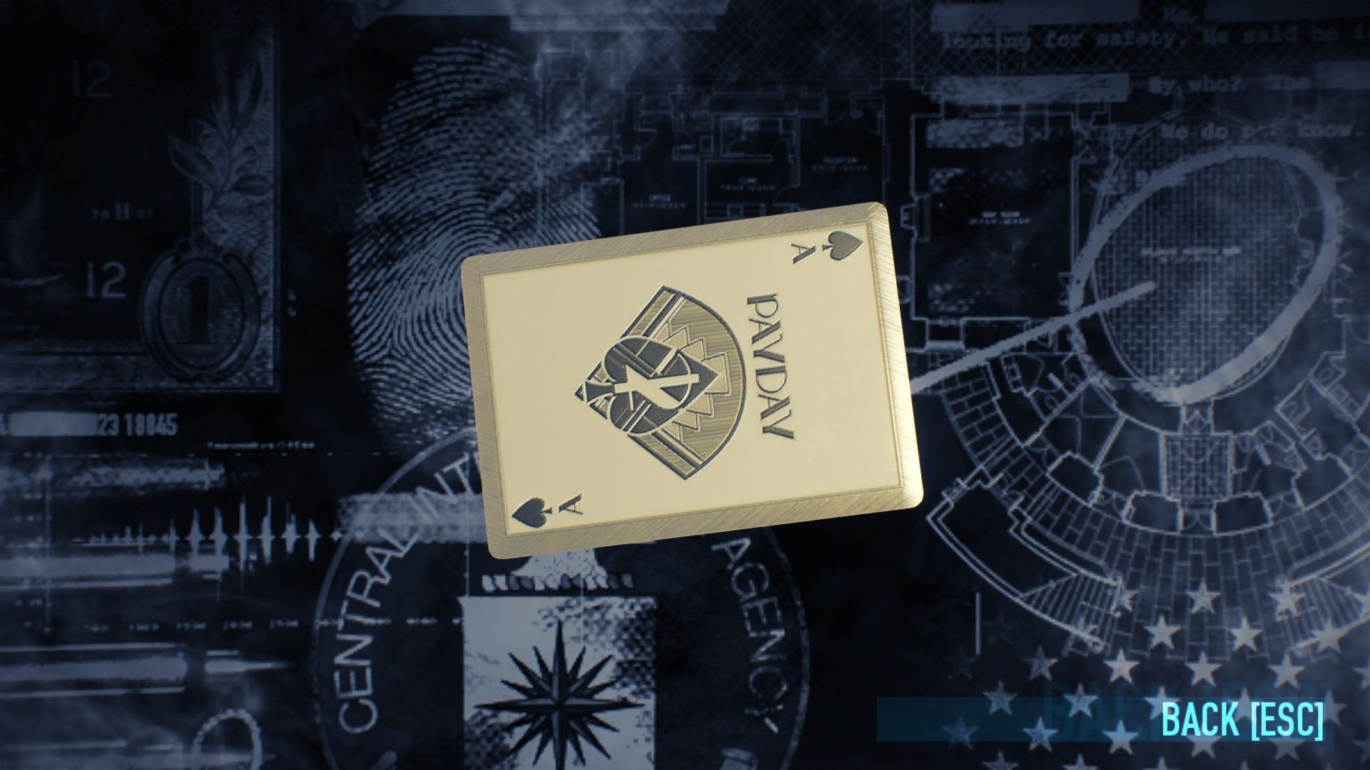 Payday promotional playing cards. 2015 SDCC EXCLUSIVE.
