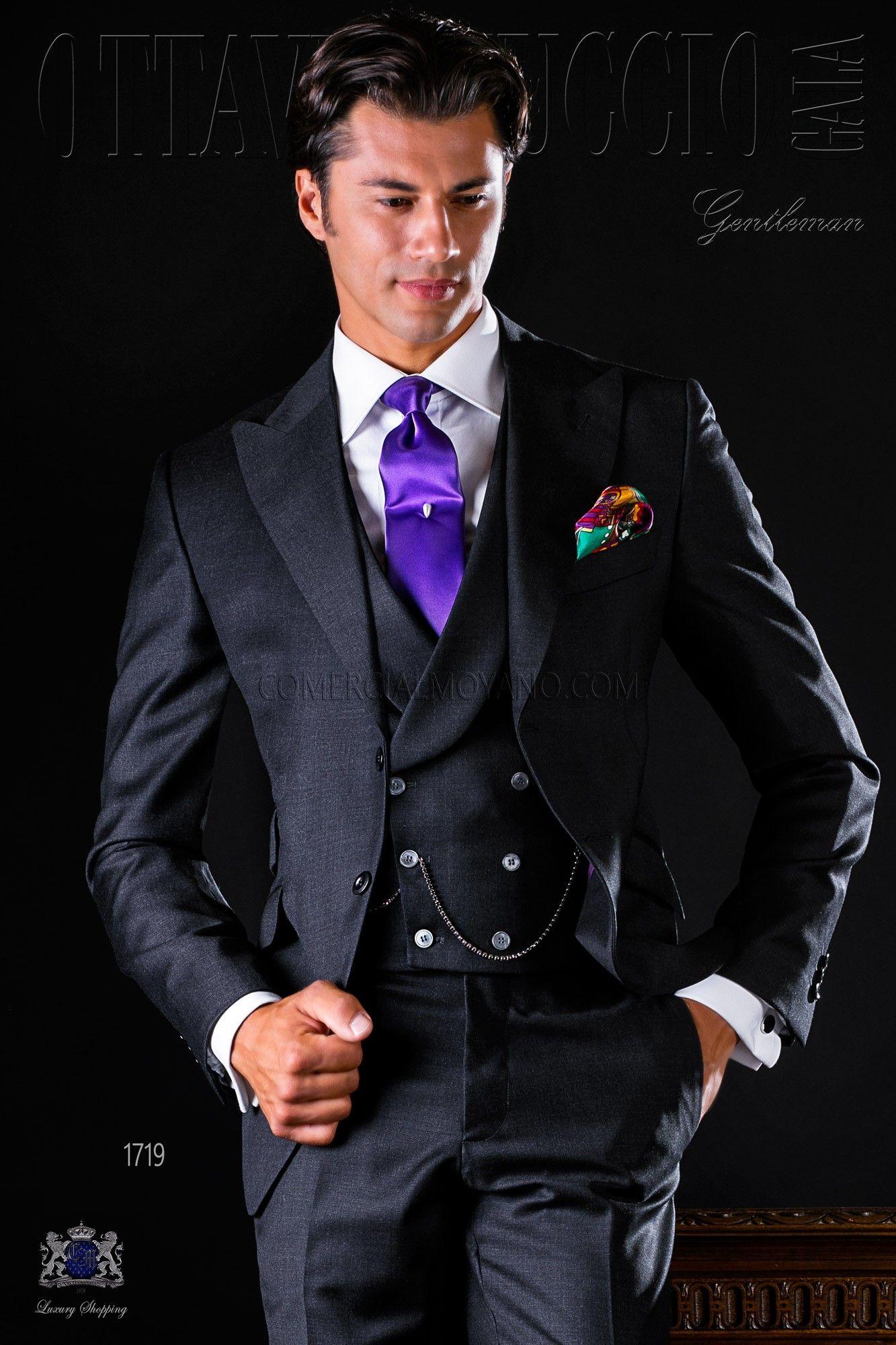 italienisch anthrazit graue anzug aus serge wolle stoff my style pinterest br utigam. Black Bedroom Furniture Sets. Home Design Ideas