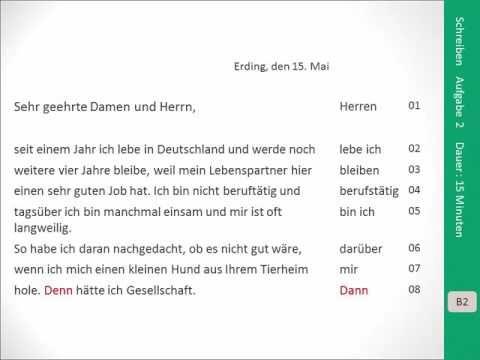Zertifikat B2 Schreiben Aufgabe 2 Deutsch Global German Language