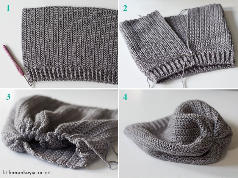 Herringbone Slouch Hat Crochet Pattern | Little Monkeys Crochet -try ...