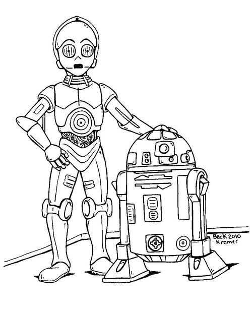 C3po R2d2 Star Wars Drawings Star Wars Coloring Book Star