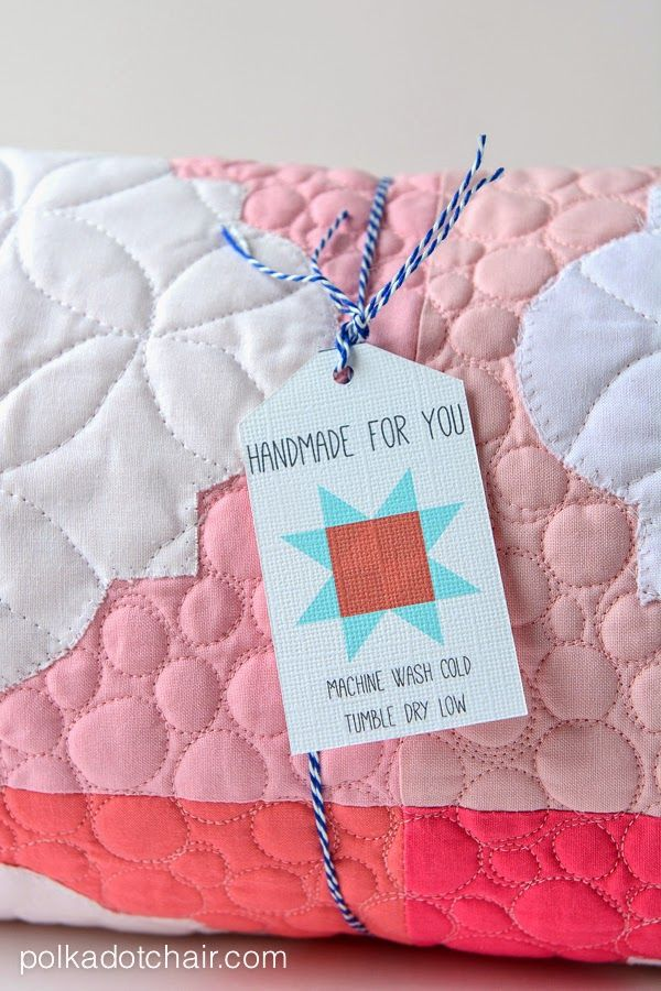 Project Teen + Free Handmade Quilt-tag Printable | Quilted gifts ... : quilting tags - Adamdwight.com