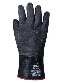 SHOWA Best Glove Size 10 Black Insulated Neo Grab Cotton Jersey Lined Cold Weather Gloves With Gauntlet Cuff, Neoprene Coated And Wrinkle Finish