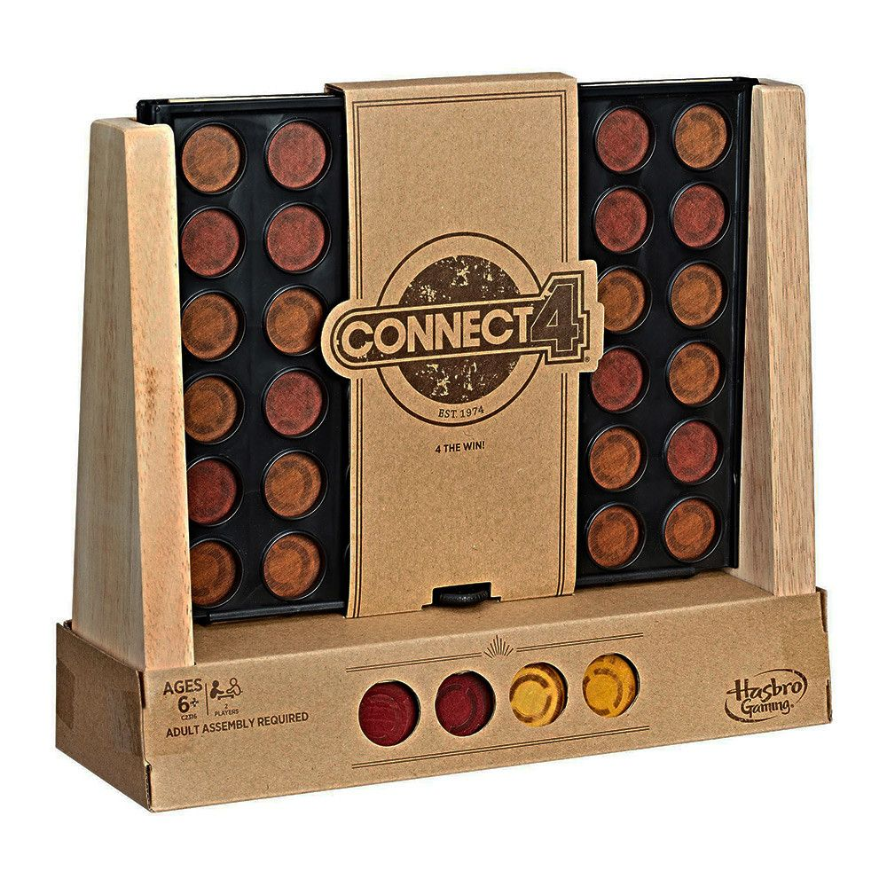 Buy Connect 4 Rustic Board Game (New) by Hasbro Gaming