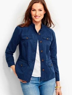 Talbots - Cotton Twill Jacket |  |  Discover your new look at Talbots. Shop our Cotton Twill Jacket for stylish clothing and accessories with a modern twist at Talbots