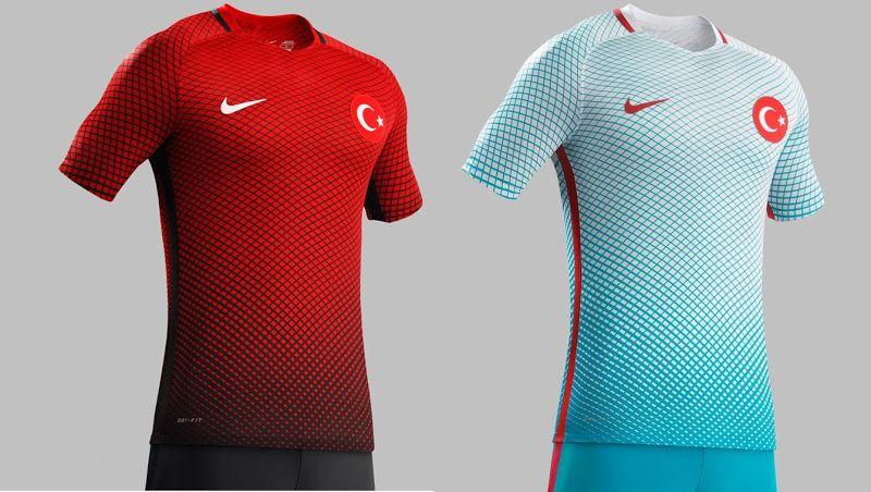 23be20d3664bf Camisas Seleção Turquia - 2016 - Oficial   Reserva   Turkish Team s Jerseys  - 2016 - Home   Away