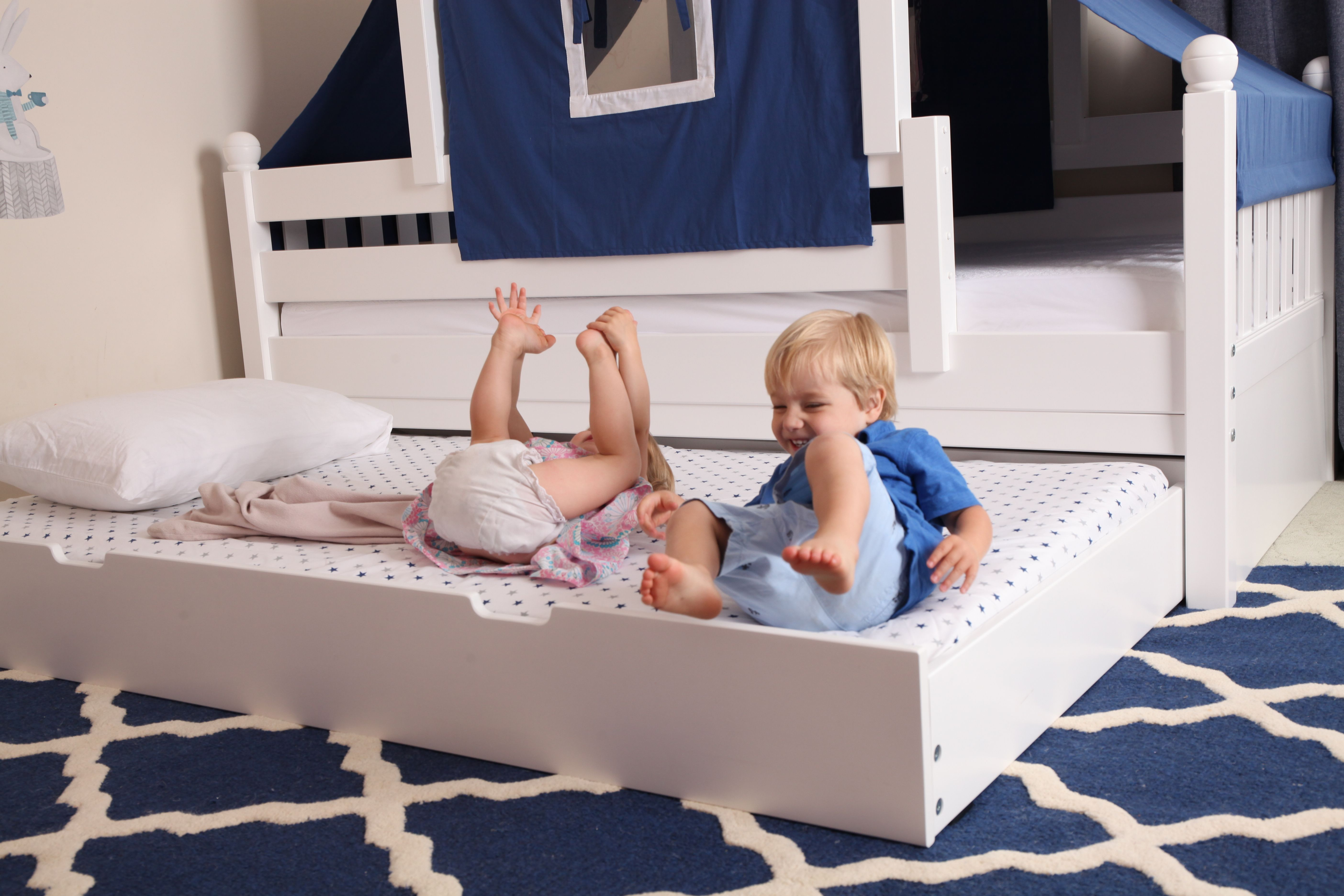 Add A Trundle For Sleep Overs Or Just A Bit Of Fun Kid Beds Bed Tent Toddler Bed