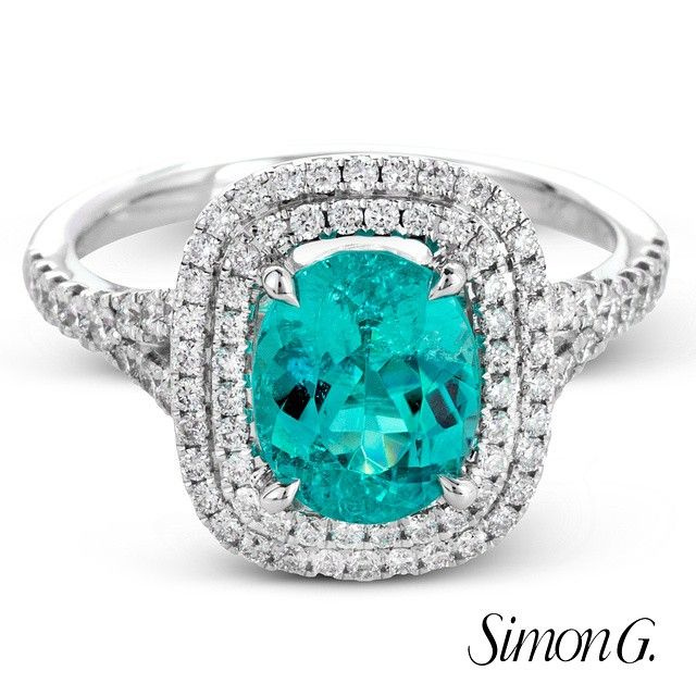 This precious Paraiba ring will surely take away your #MondayBlues  Featured Style: MR2414  #SimonG #Fashion #Jewelry #Rings