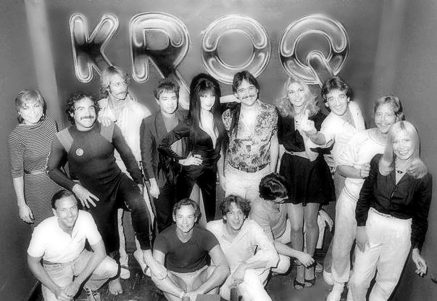 Pasadena 39 s 1980 39 s radio station kroq crew with elvira for The fish radio station