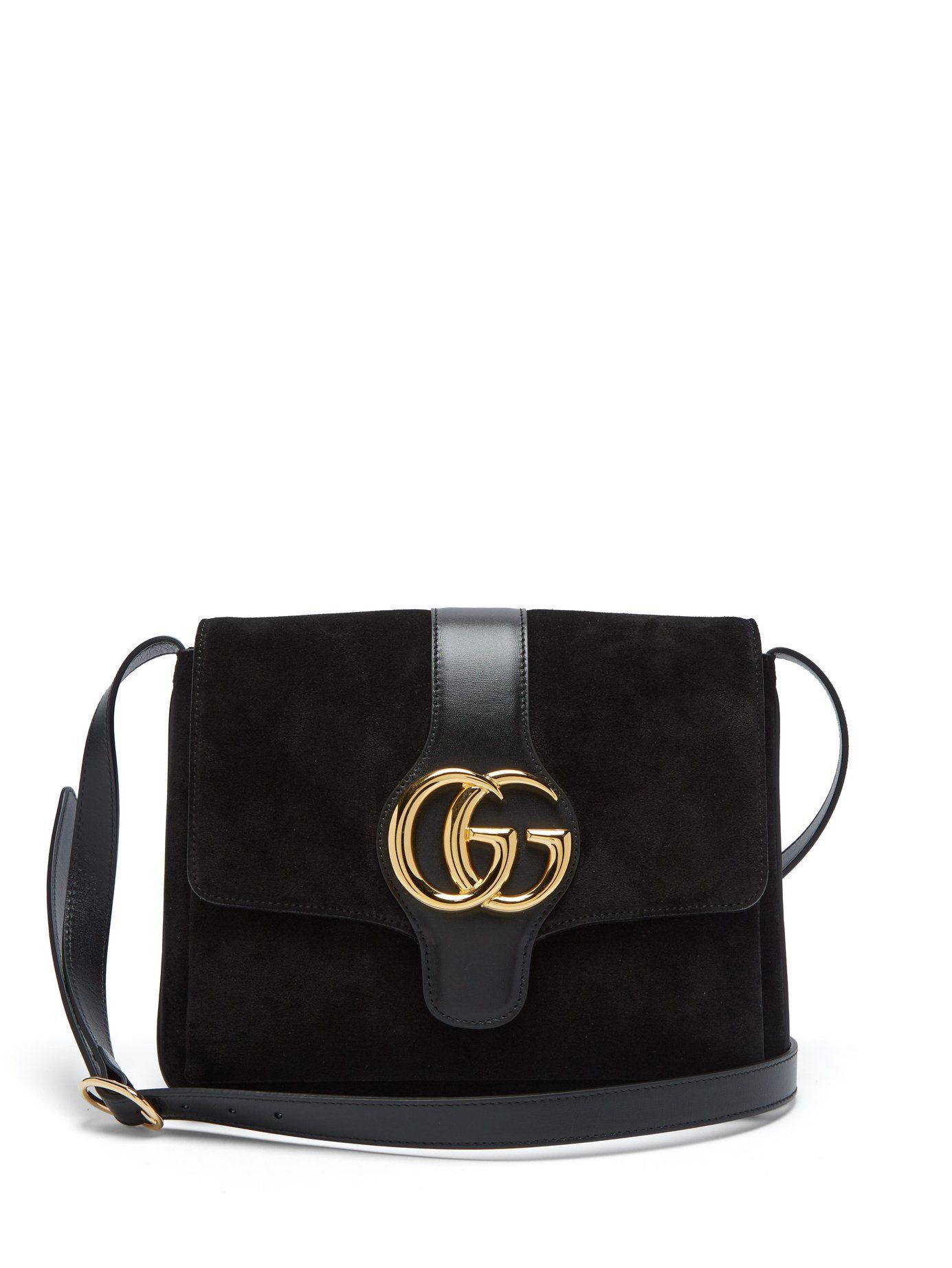 GG Arli suede and leather cross,body bag