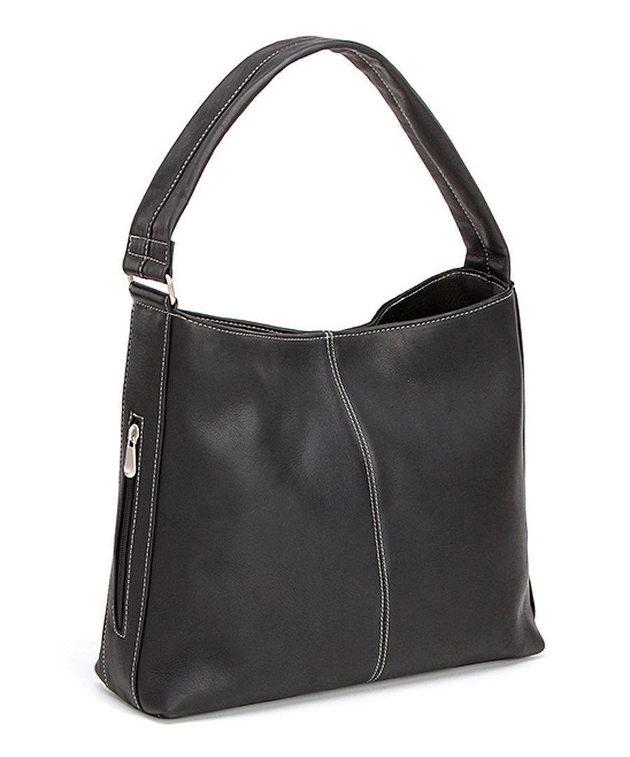 Look at this Black Side-Zip Leather Hobo on #zulily today!