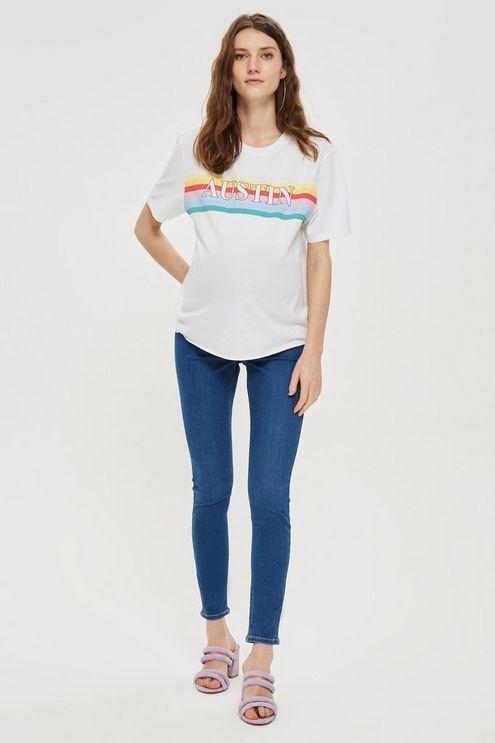 c06f510912e0b Womens **Maternity Over The Bump Joni Jeans - Blue Pregnancy Wardrobe, Topshop  Maternity