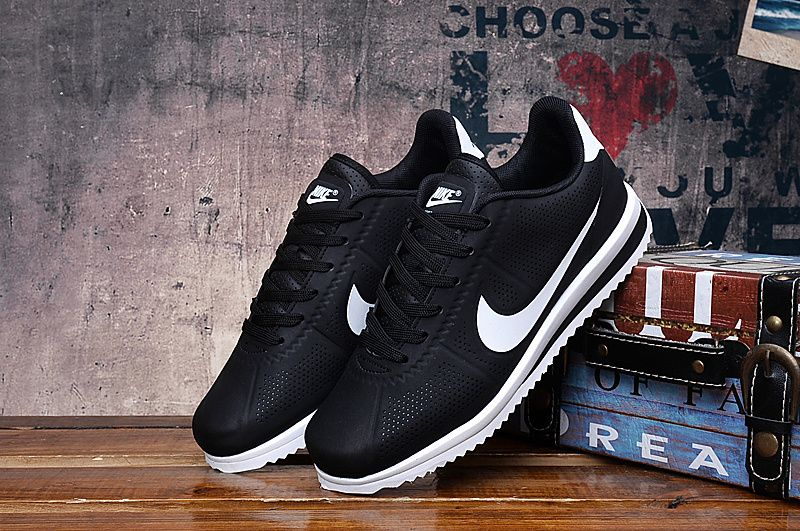 57d3db4aa40 Nike Cortez Ultra Moire Unisex Black White Shoes in 2019