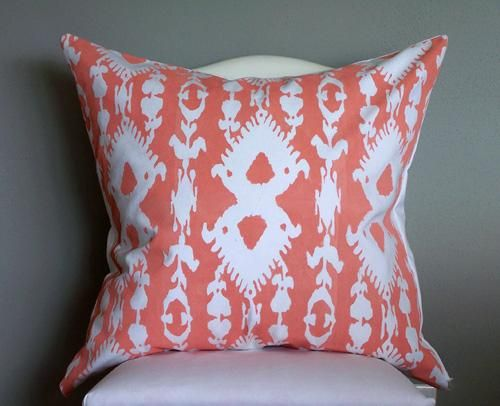 DIY ikat print pillow DIY Crafts