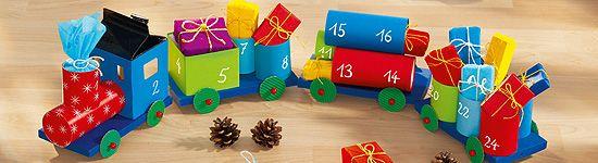 Adventskalender Zug Aus Streichholzschachteln Hier Gibt S Die Anleitung Adventkalender Adventskalender Zug Adventskalender