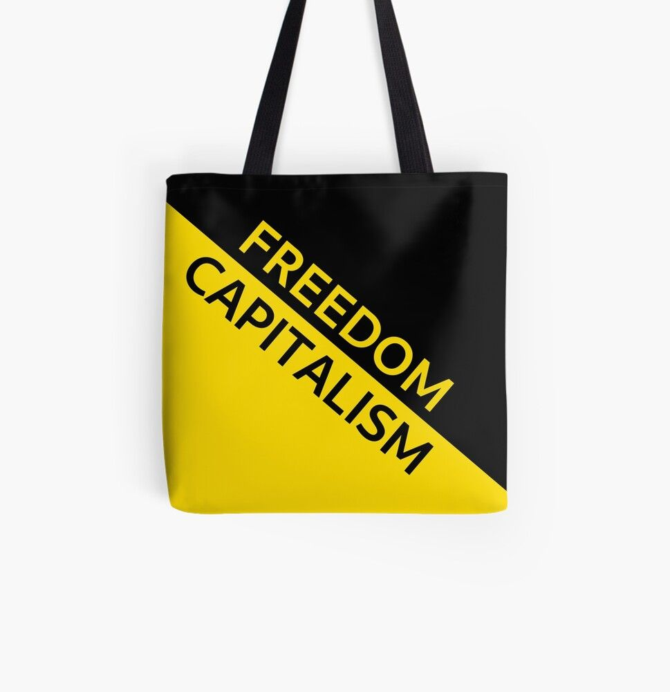 Anarcho Capitalism Flag Capitalism Is Freedom Tote Bag By Solarcross Tote Bag Bags Tote