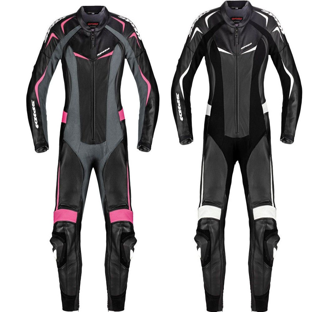 Spidi Track Wind Pro Leather Womens Street Motorcycle Race Suits