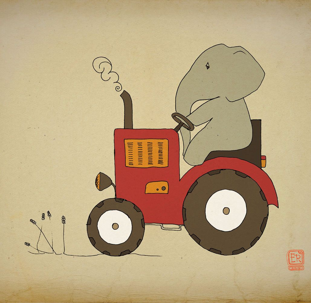 painting art projects for boys | Elephant nursery art 12x16 ...