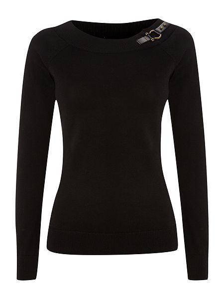 Shaela long sleeve buckle jumper