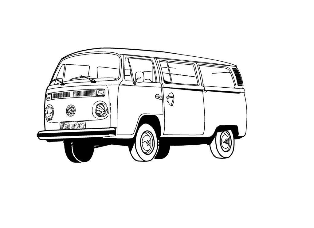 Vw Bus Clip Art A Multi Layer Finished