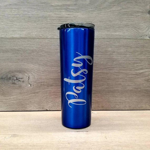 Personalized Powder Coated HOGG 20 oz  Stainless Steel Skinny