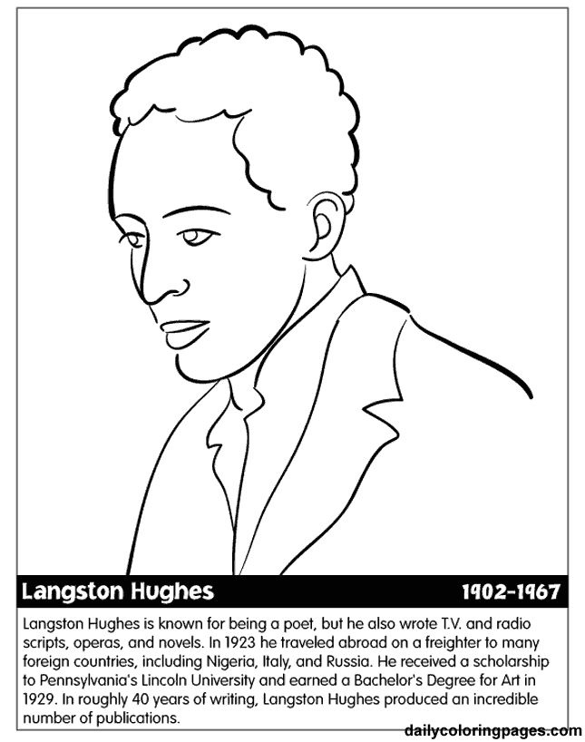 Coloring Page Maya Angelou. Free Printable Black History Coloring Pages Month Printables  Worksheets Introduce kids to