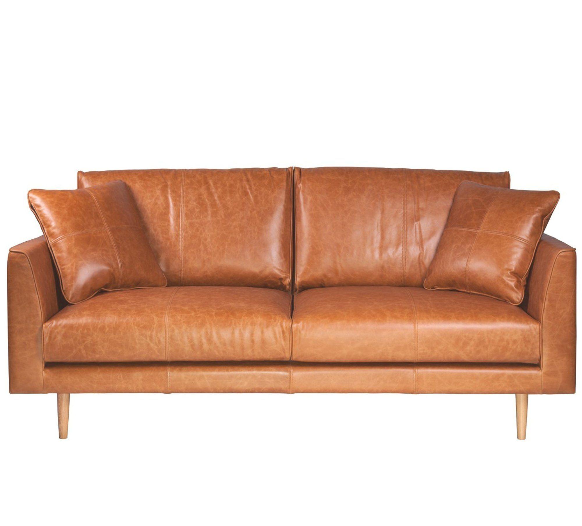 Narvik 3 seat sofa tan leather the modern furniture store