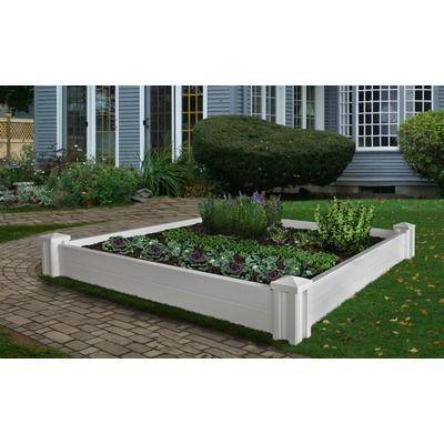 Eden 5 5 Ft X 5 5 Ft Vinyl Raised Garden Raised Garden Garden Beds Raised Garden Planters