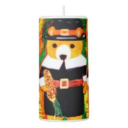 TEDDY BEAR PILGRIM candle