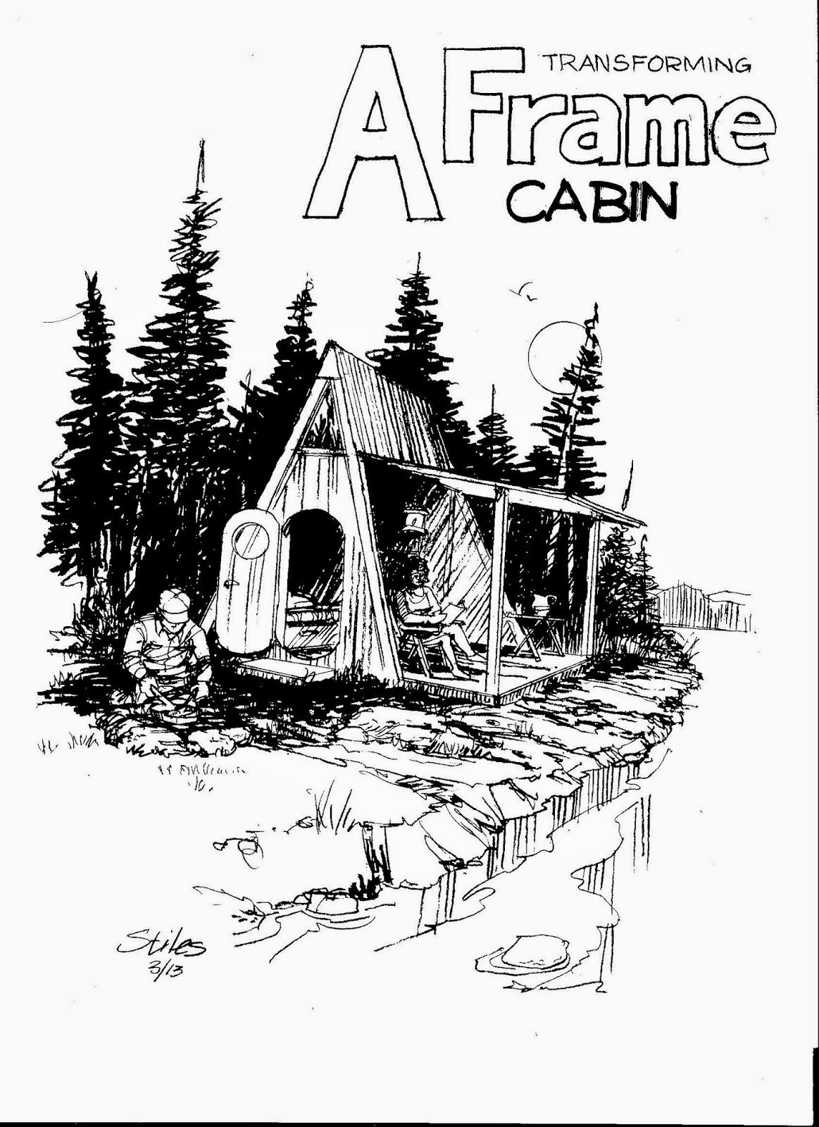Simplicity simplicity simplicity and woods A frame cabin tiny house wood home