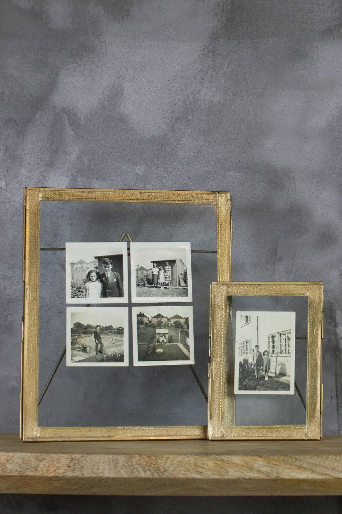 double sided picture frame standing brass - Double Sided Frame