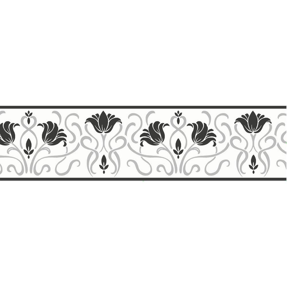 Luella Floral Peel And Stick Wallpaper Border Multi Color