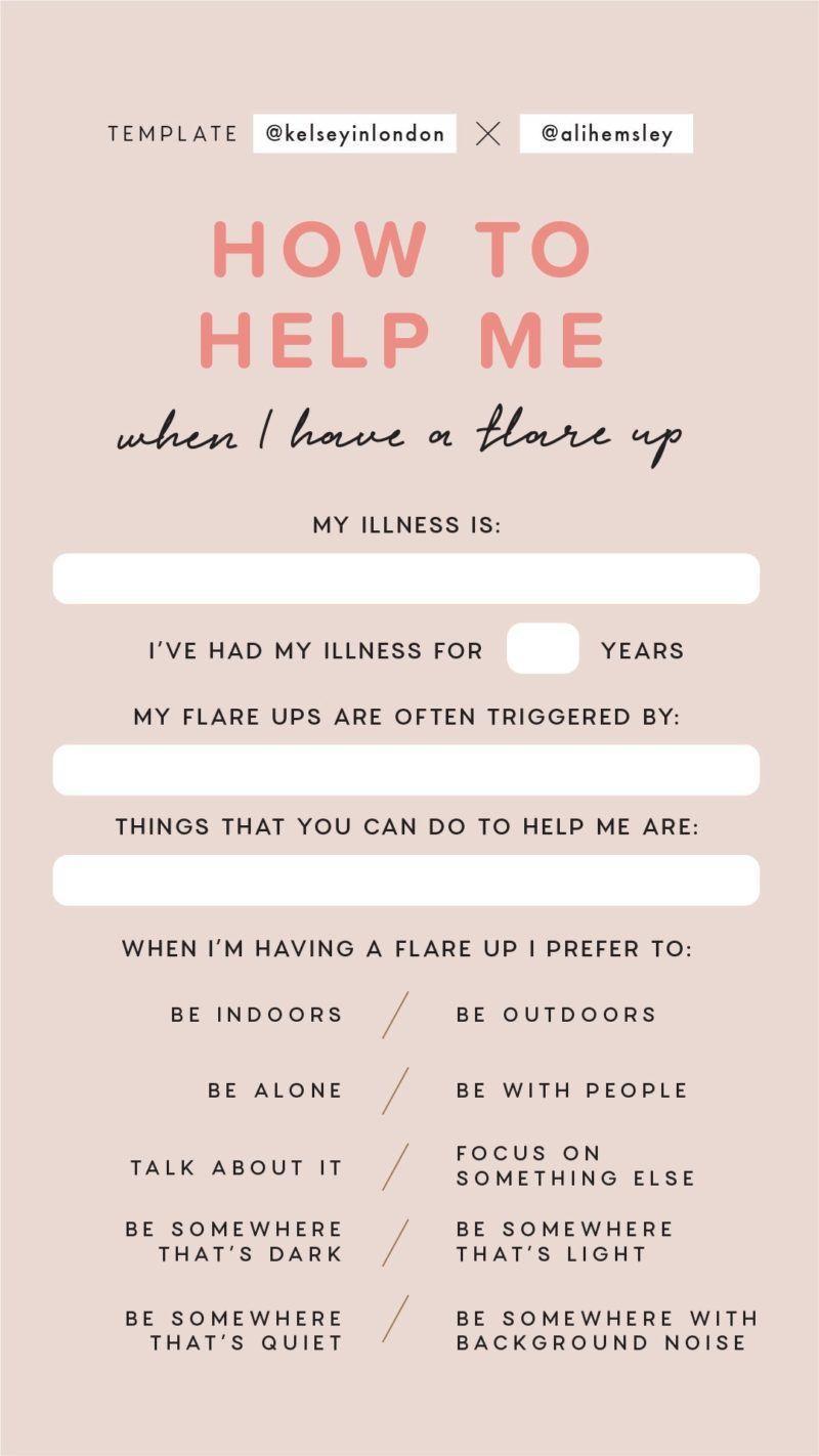 Illness awareness instagram story templates story