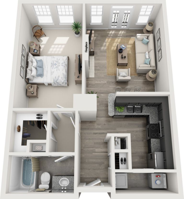 35 Stylish Modern Home 3D Floor Plans Engineering Discoveries