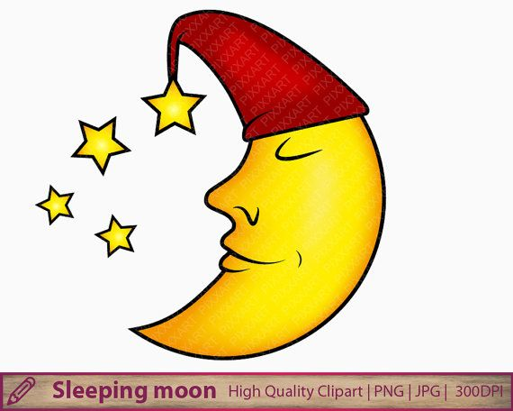 Moon Png Sleeping Cute Moon Clipart Moon Hat Nursery Printable Baby Bedroom Wall Art Sublimation Digital Download Clip Art Free Clip Art Animated Clipart