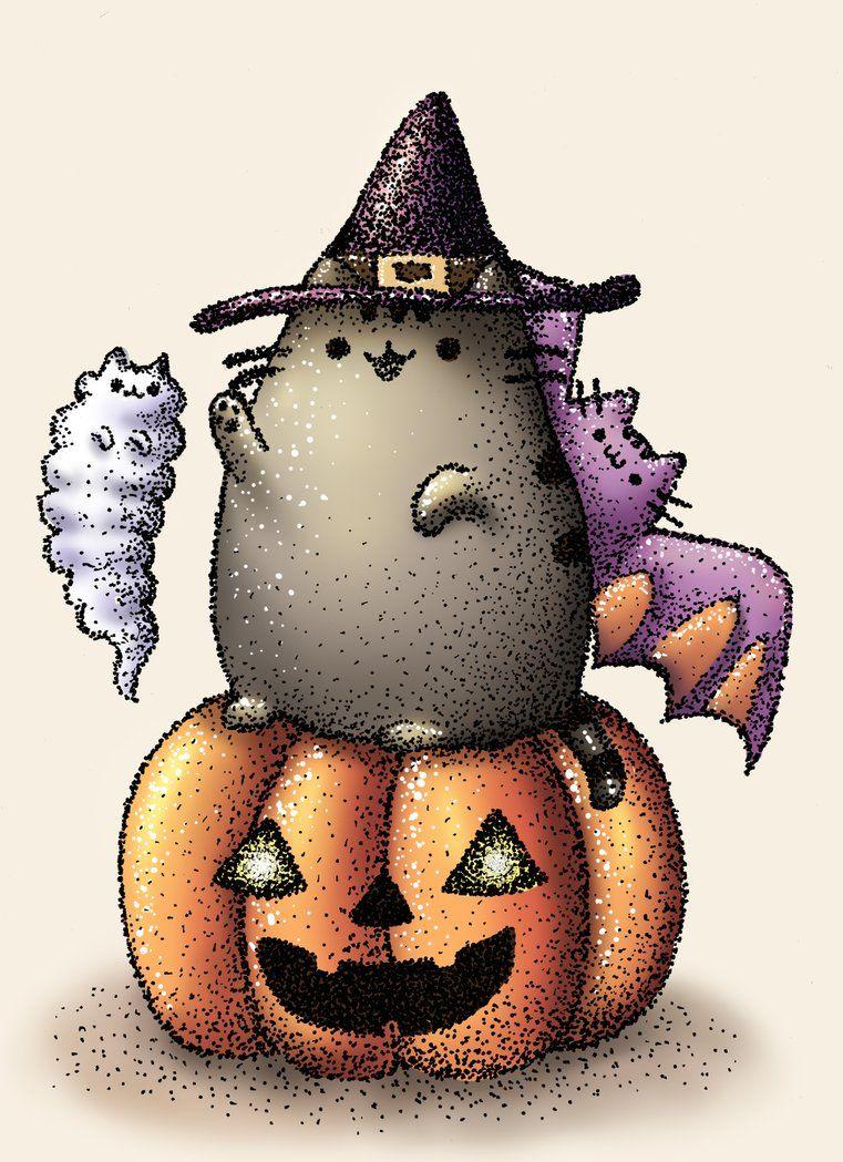 пушины картинки на хэллоуин длинные волосы короткой