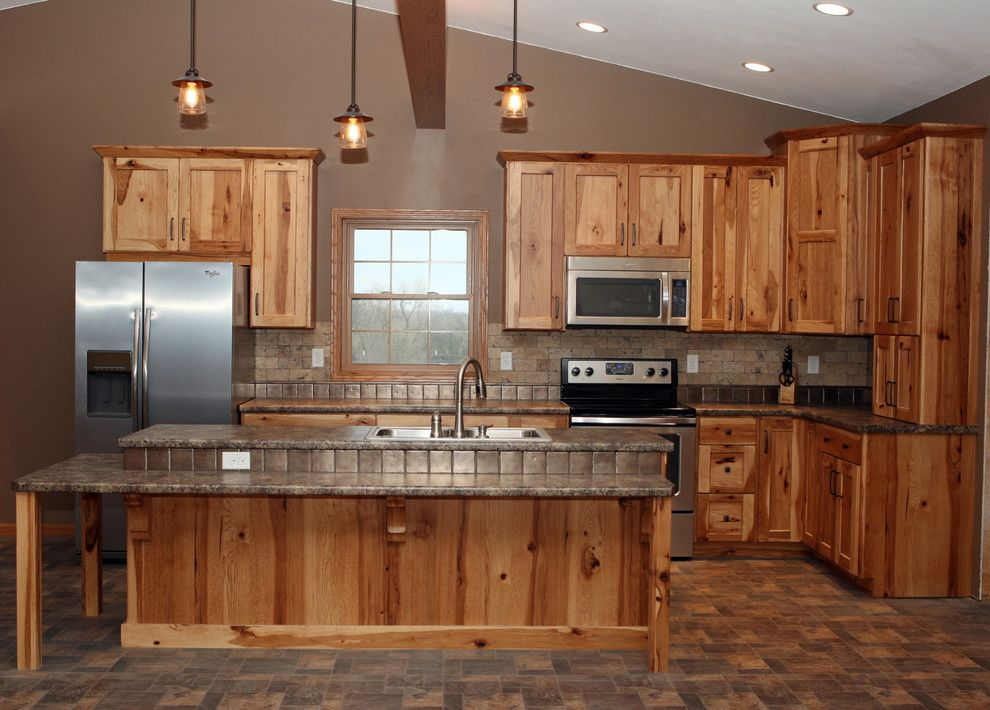 Best Artistic Hickory Cabinets House Designs Burlington Rustic 400 x 300