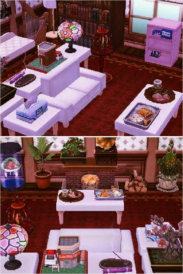 My living room in Animal Crossing New Leaf (´ `).。o ... on Animal Crossing New Horizons Living Room Designs  id=84231