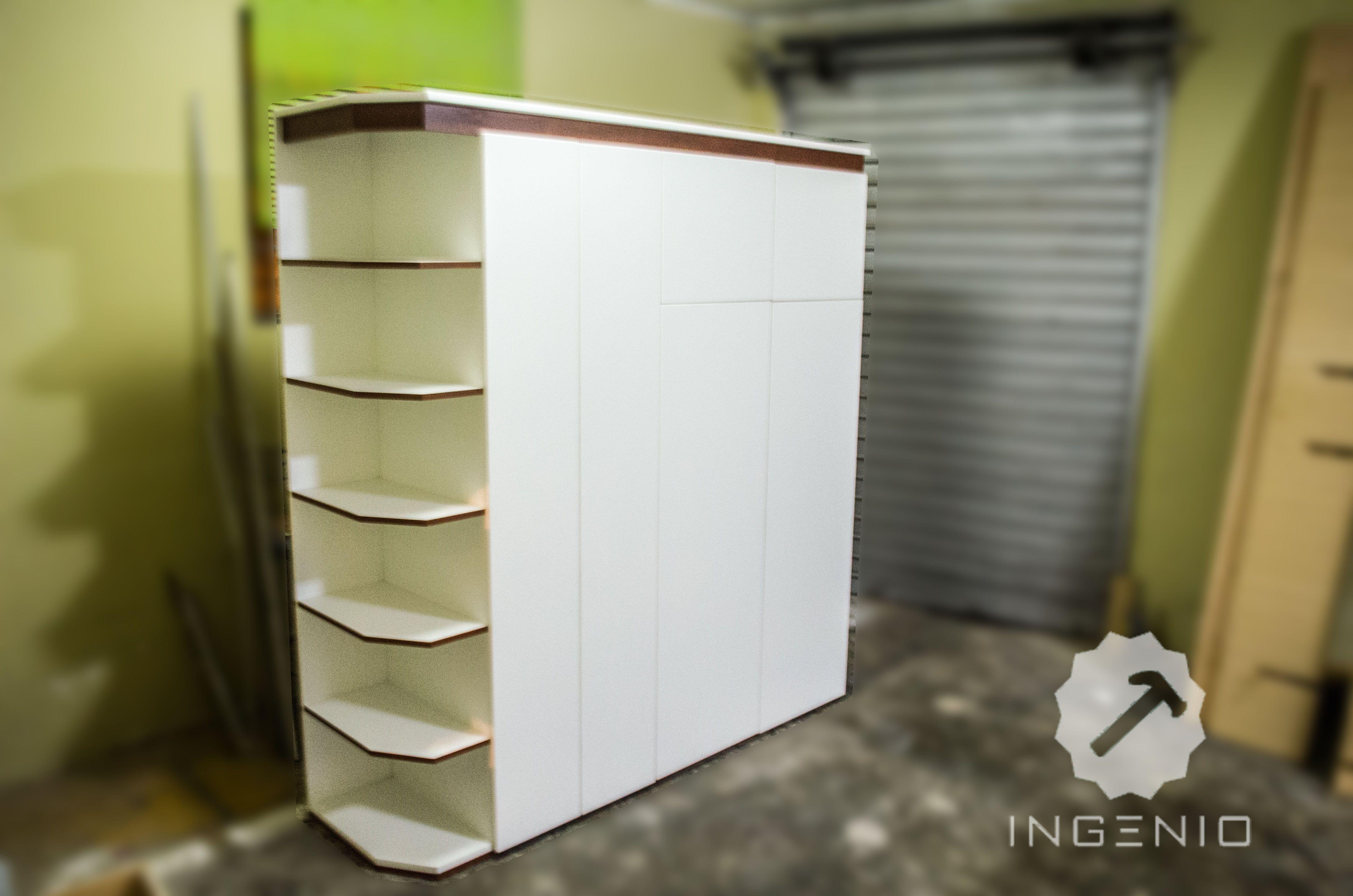Mueble Lavander A En Melamina Tropical Color Blanco La Melamina  # Foxy Muebles Y Objetos