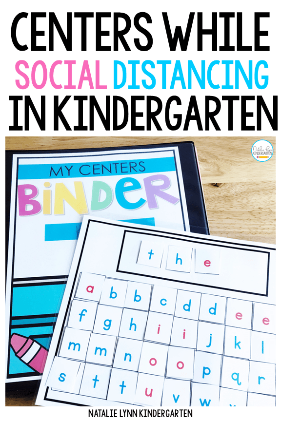 Independent Centers while Social Distancing in Kindergarten