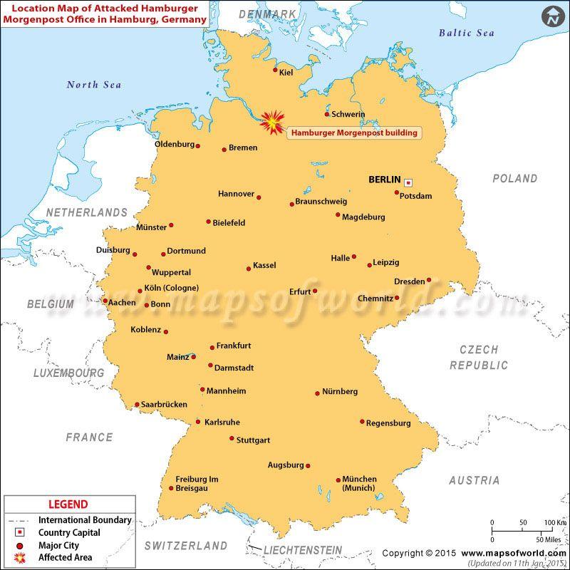 Map of Hamburger Morgenpost attacked location in Hamburg Germany – Germany Map Location