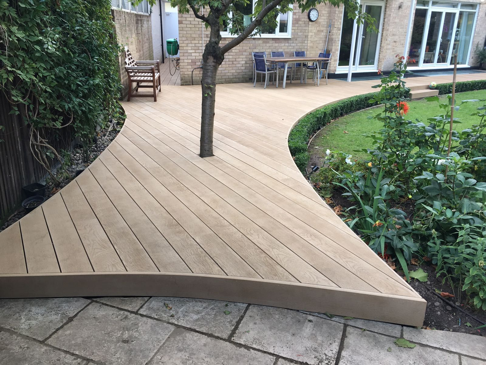 Millboard golden oak composite decking decking