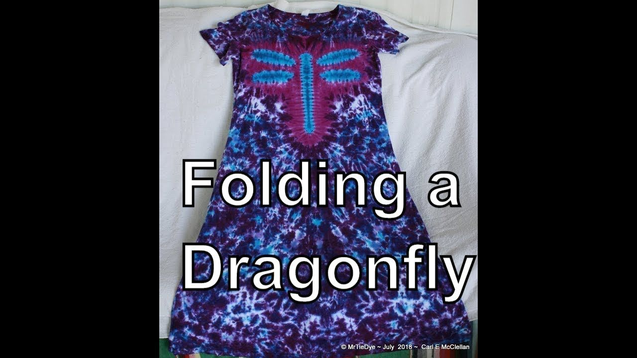 Diy how to tie dye a dragonfly youtube how to tie dye
