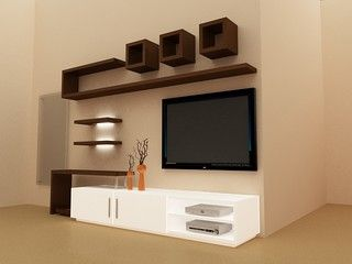 TV Unit Design Products // http://www.houzz.com/photos/814221 ...