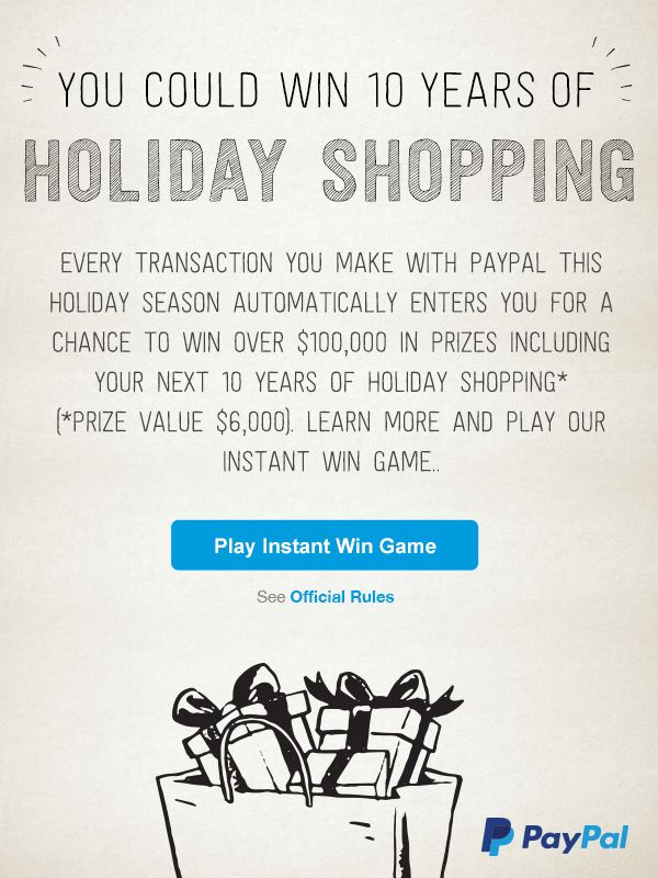 Paypal giveaway - ends 1/4 - daily entries