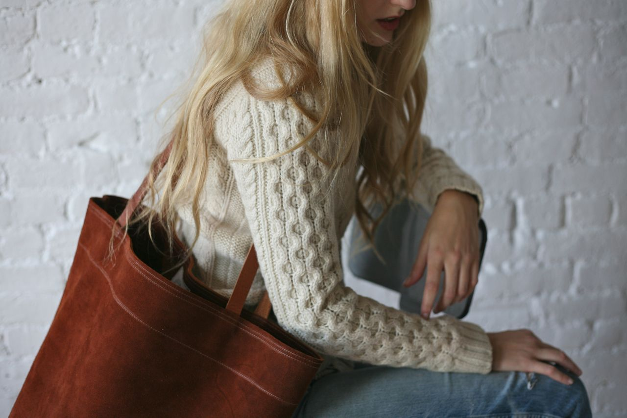 Suede Marked Tote - Forestbound