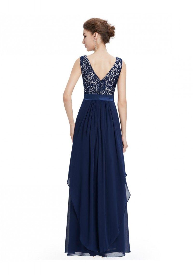 blaues spitzen abendkleid | abendkleid, dunkelblaues kleid