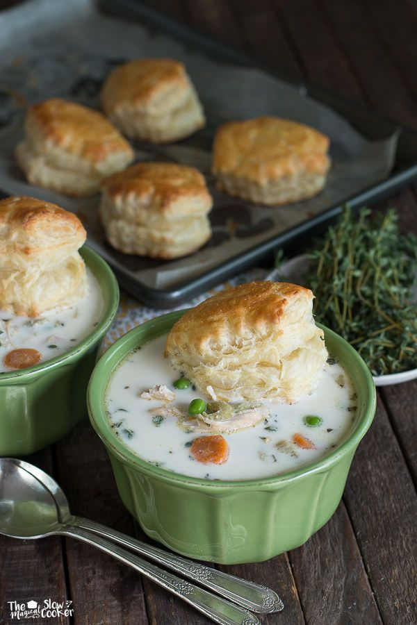 Slow Cooker Chicken Pot Pie Soup {Freezer Meal Friendly} - The Magical Slow Cooker