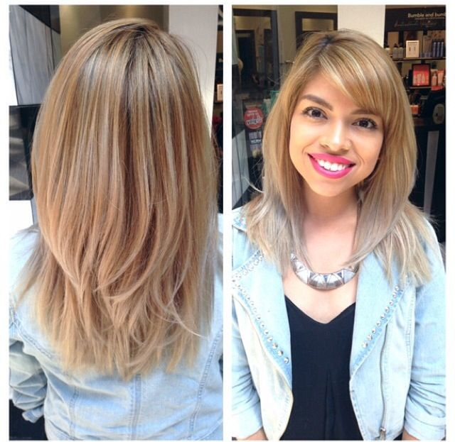 Ashy blond ombré with highlights and haircut by Jamie @ Carlton ...